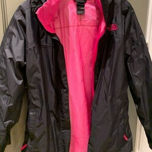 girls north face rain jacket